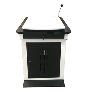 China factory adjustable metal lectern for conference system and school supply