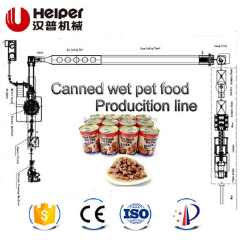 Canned wet pet food production line