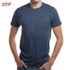 Tshirt Shirt Bamboo Tshirt Men OEM Shirt 95% Bamboo 5% Spandex Soft Sports T-shirts Plain Clothing For Customization With Private Logo Label