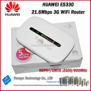 Hot Sale Original Unlock 21 6Mbps E5330 3G WiFi Router With Sim Card Slot  Support HSPA B1 B8