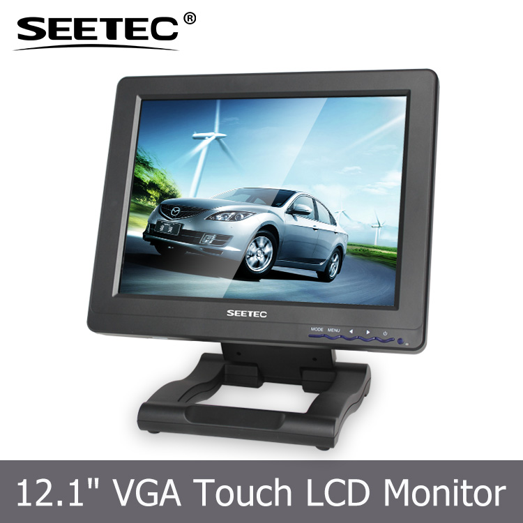 VGA HDMI DVI input factory sale stand on table fordable 12.1 inch lcd monitor with touchscreen optional