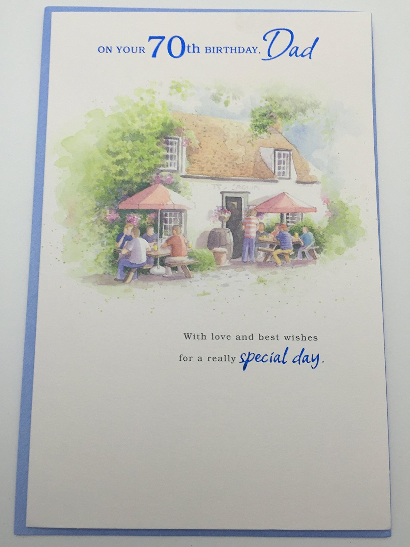 Happy 70th Birthday Dad Greetings Card