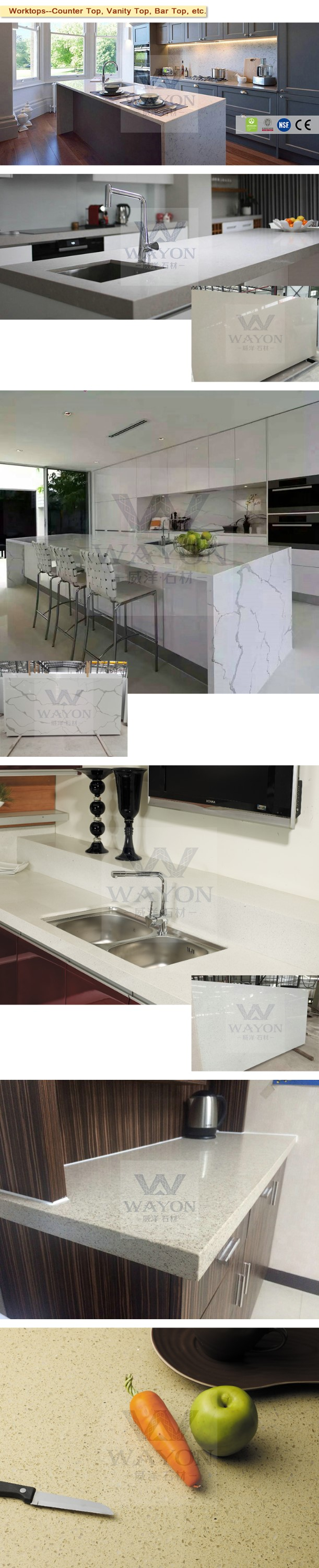 Quartz Stone products countertops