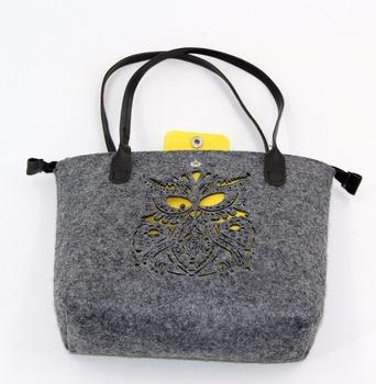 c0ba73f6c6b7 New Model Cheap Owl Hollow Design Felt Ladies Bags Handbag - Buy ...