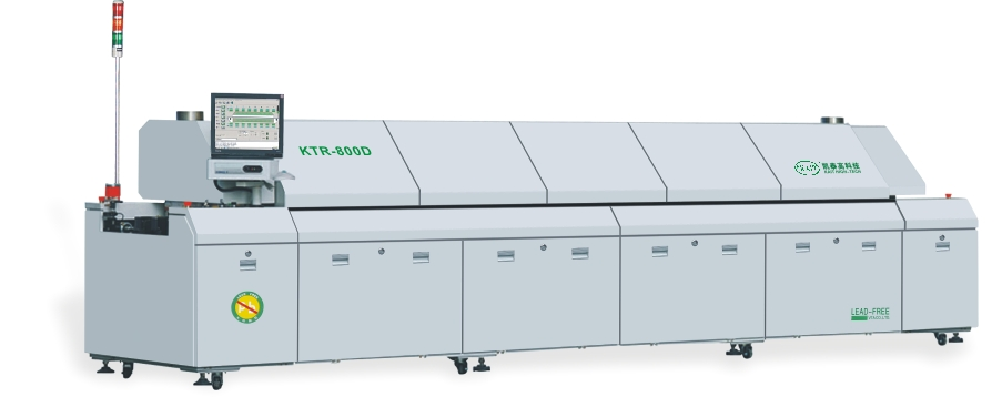 KTR-800D SMT automatic PCB soldering machine dual rails lead free hot air 8 zones reflow oven