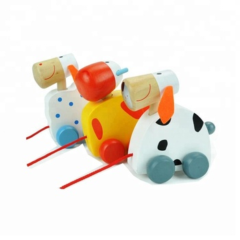 2017 Wholesale Funny Kids Baby Children Mini Wooden Toys Cars