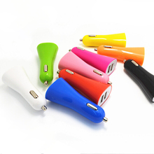Custom Logo print  three USB 2.1A /1.0 A car charger for promo