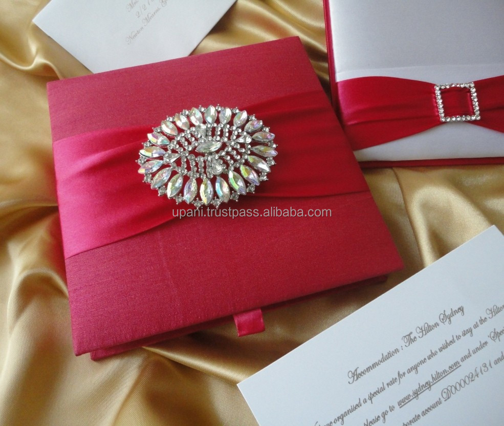 Embellished Silk Invitation Box, Embellished Silk Invitation Box ...