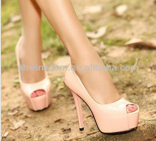 WOMEN 2013 SPRING HIGH WATERPROOF HEELS SHOES D91023S