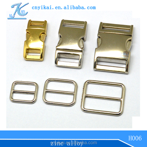 Metal Slide Bar Buckles purse accessory loop slide buckle metal buckle for dog collar
