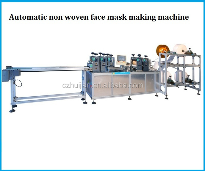Fully automatic face disposable surgical non woven mask making machine