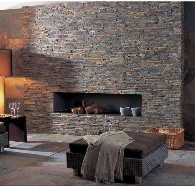 Fireplace Stone Wall
