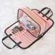 Fashion Women beauty Pink PVC Trasperant Stylish Makeup Brush Organizer hanging travel Cosmetic Bag