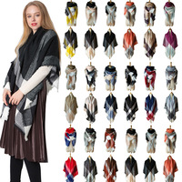 Practical design 2018 Winter Women Warm Plaids Pashmina Long Scarf Shawl Wrap Soft Scarves for lady Wonderful gift