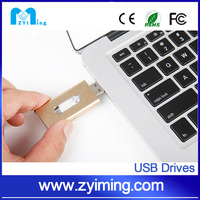 Zyiming bulk cheap silver 32/64gb usb stick OTG for iphones promotional