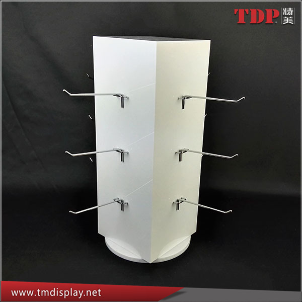 Manufacturer Spinning Acrylic Display Racks With 12 Pcs Metal ...