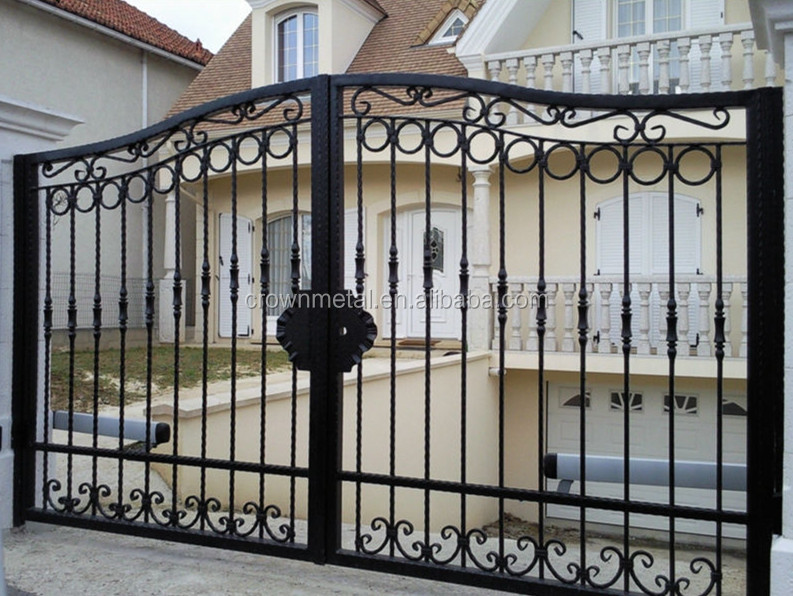 luxury Beautiful Residential Wrought Iron Gate Designs/Models/Wrought Iron Main Gates