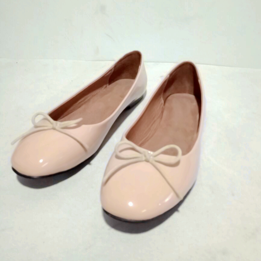 bowknot cute ladies' slip on apricot shoes mary jane women
