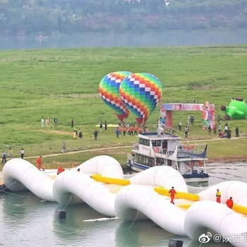 New developed inflatable water games inflatable jumping bridge for river