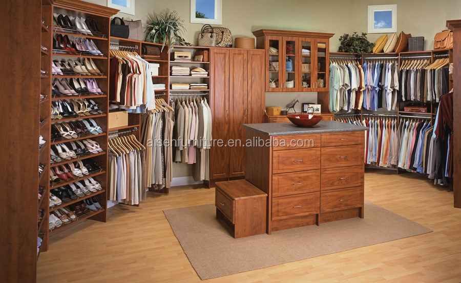 madera muebles Walk in dormitorio armario Closet Made in China venta