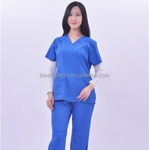 Breathable Medical Scrubs and 2018 New Style Royal Blue Nurse Uniform