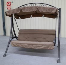 3 seater luxury outdoor swings for adult/indoor hanging swing chair