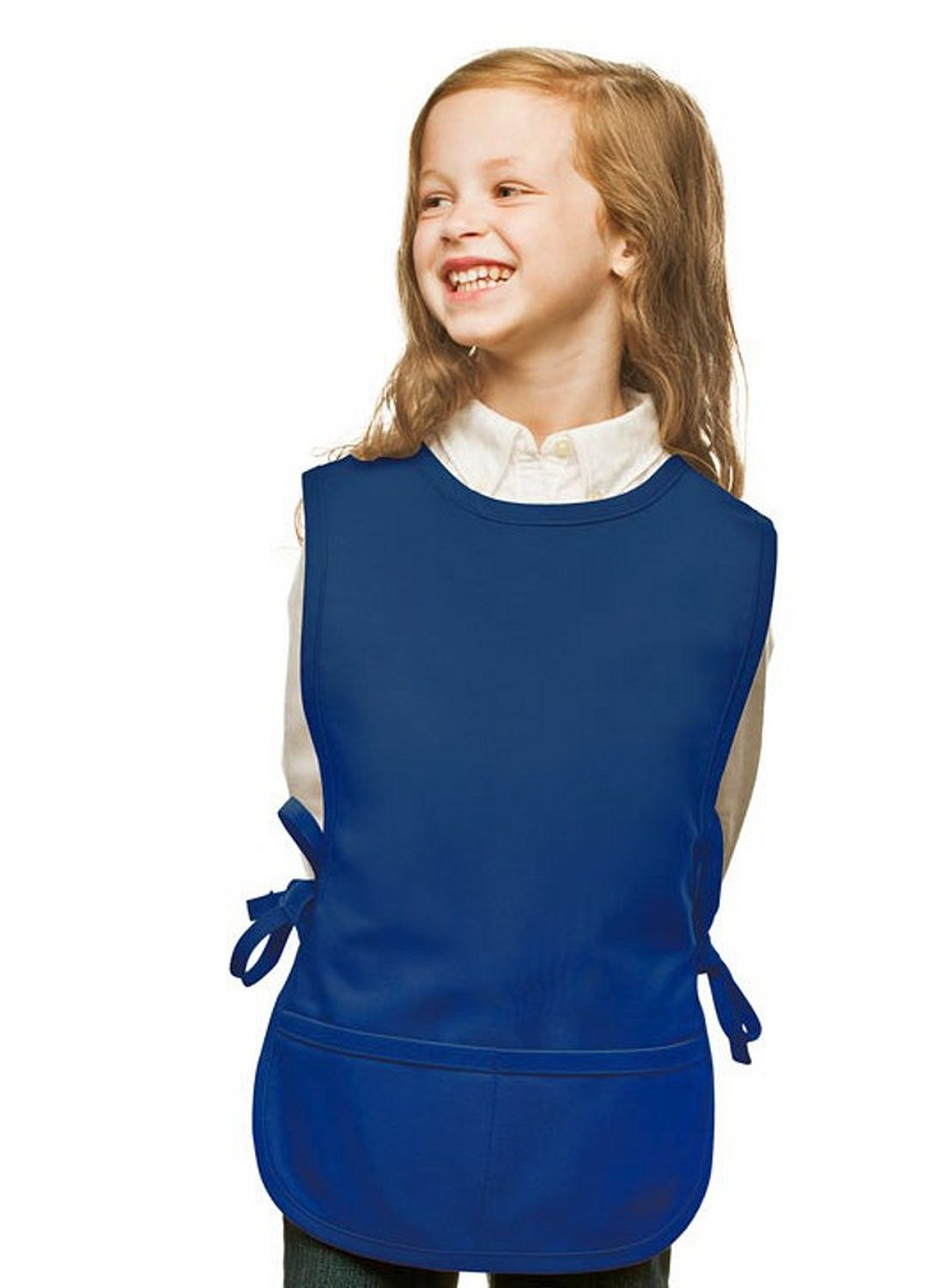 Royal Blue Kids Art Smock, Cobbler Apron, Poly/Cotton Twill Fabric