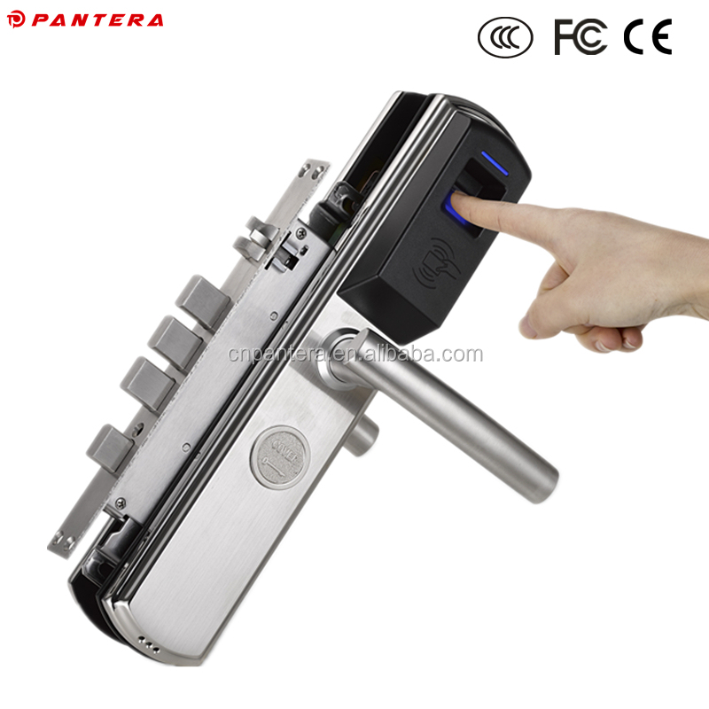 RF IC ID Swipe Card Biometric Digital Keyless Smart Fingerprint Door Lock