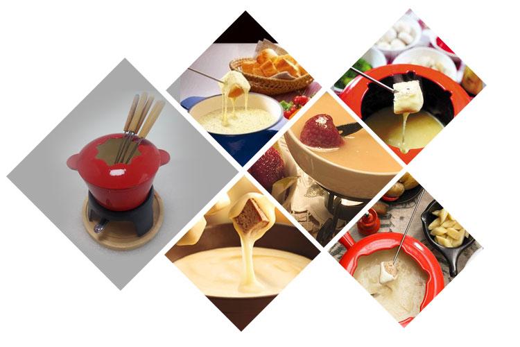 Hot koop smelten pot gietijzeren set chocolade kaas fondue