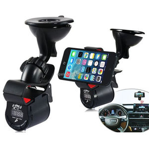 Bluetooth Handsfree Car Kit Charger phone Mount Holder car radio mp3 fm am transmitter