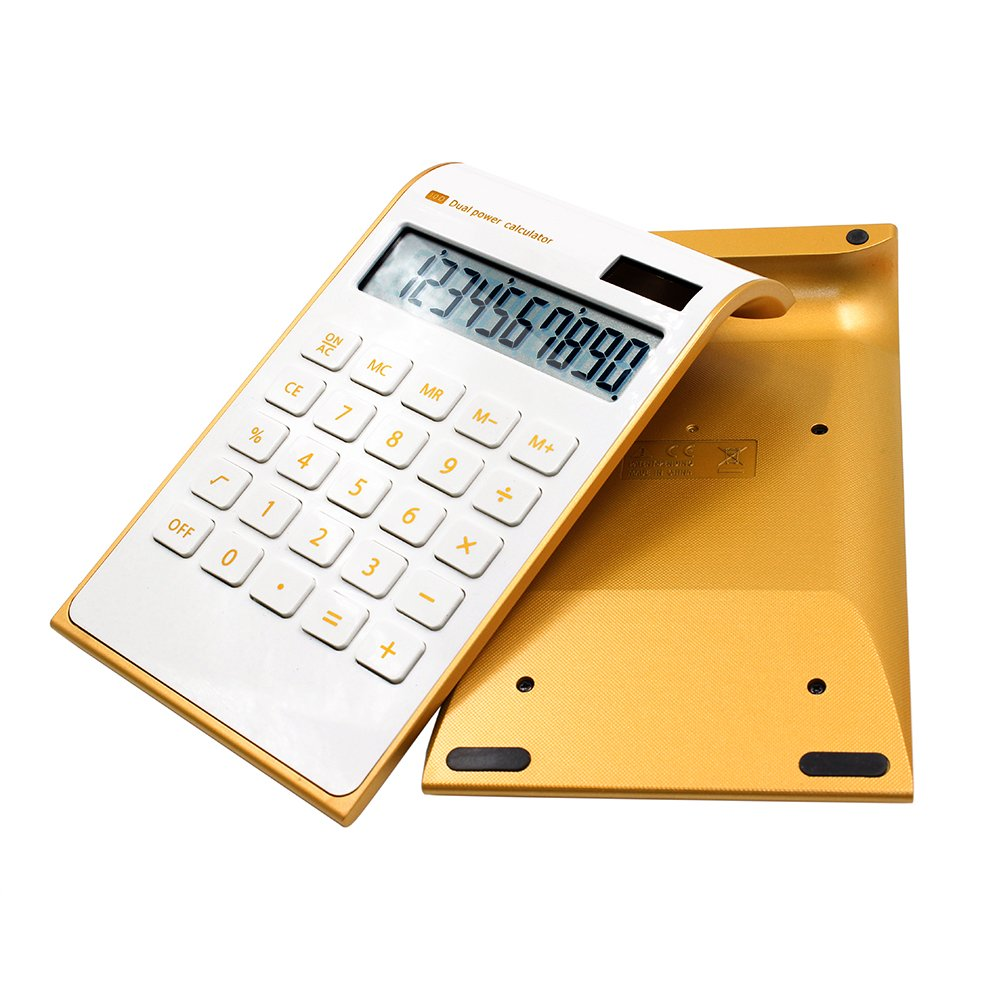 Get Quotations Tmarton 10 Digits Dual Ed Standard Functional Desktop Calculator Inclined Design Lcd Display Office