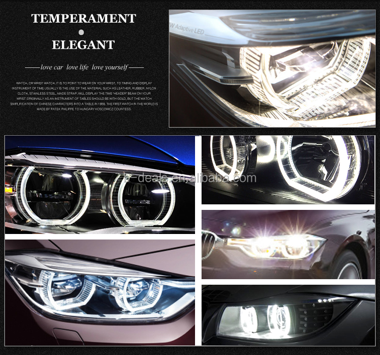 Accessories Car DTM STYLE Crystal Angel Eyes Dual Colors White U0026 Amber For B.M.W  E90 Sedan