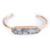 2019 New Arrival Jewelry Stainless Steel Fashion Bar Quartz Cuff Natural Stone Gold Bangle Bracelet