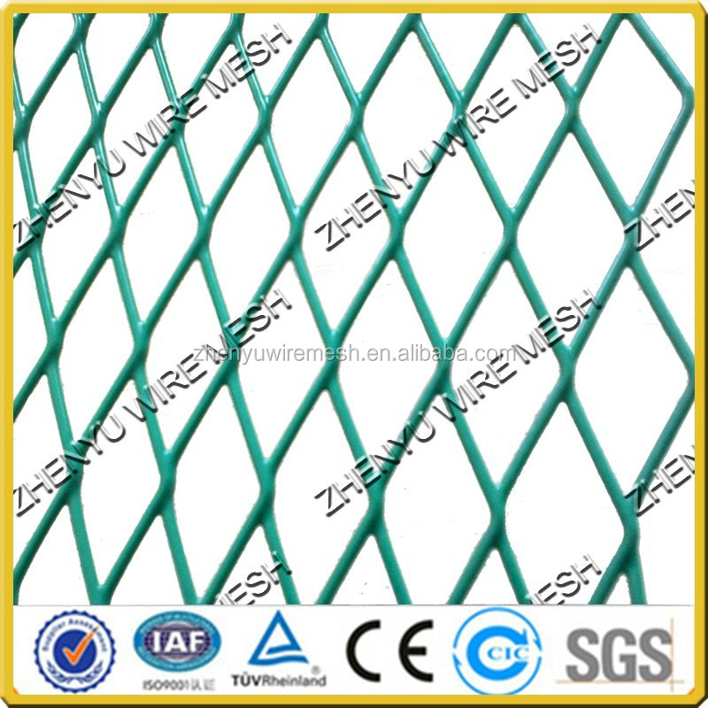 high quality flatten expanded metal wire mesh fence for road anti glare mesh