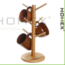 Bamboe Mok Boom/Mok Stand/Opslag Koffie Thee Cup Organizer Houder/Homex_factory/BSCI