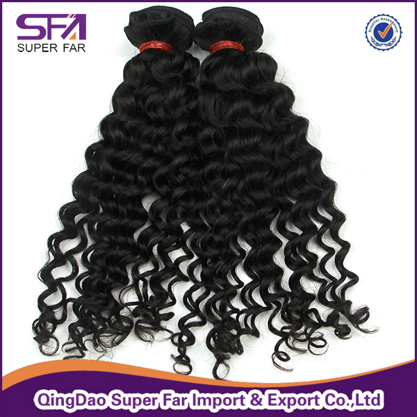 100% Pure Cambodian Hair Weave Curly Hair Weft Thick End Hair Bundles