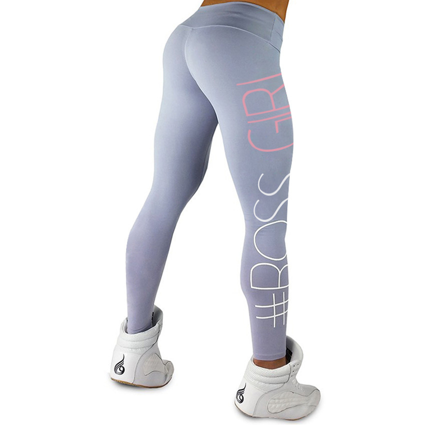 Fashion colorful plus size printing unisex gym workout fitness pants high waisted yoga leggings for women