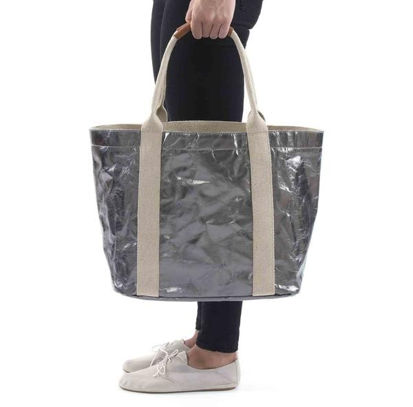Wholesale Promotional Customized Large Shopping Bags Women Handbag Shoulder Beach Bags Washable Kraft Paper Tote Bag