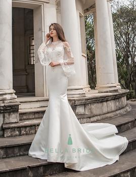 Off Shoulder Satin Wedding Gowns Pakistani Mermaid Changing