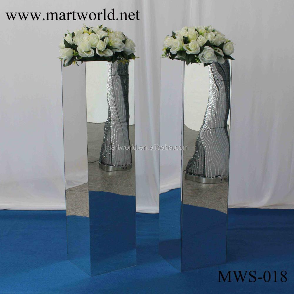 31 inches height square silver mirror column party and wedding 31 inches height square silver mirror column party and wedding decoration supplies in guangzhoumws junglespirit Choice Image