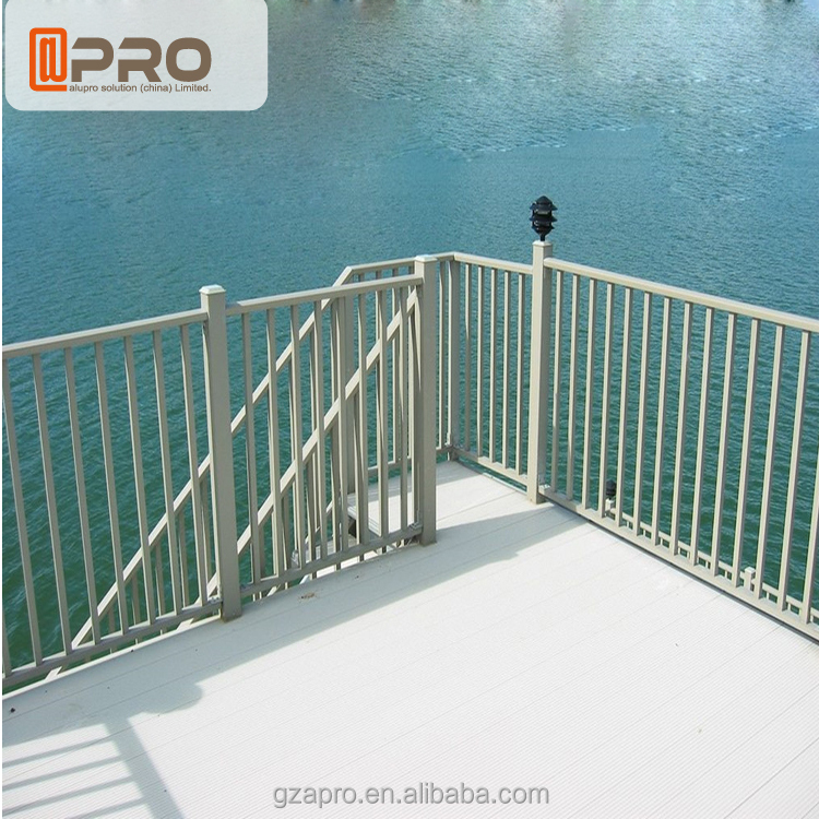 High quality glass balustrade outdoor concrete handrails - Removable swimming pool handrails ...