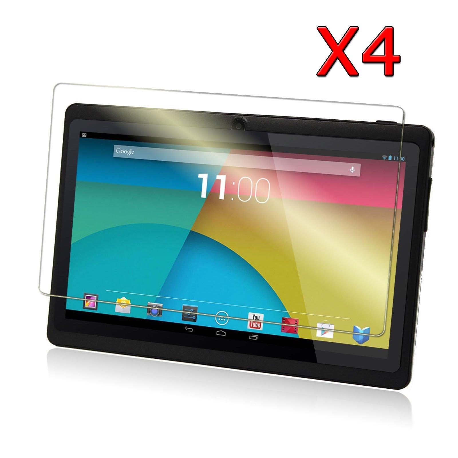 Transwon 4-Pack Ultra-Clear HD Screen Protector for 7 Inch Android Tablet inclu. Dragon Touch Y88X Plus, Y88 Q88, Alldaymall A88X A88S 7, NeuTab N7 Pro 7, DanCoTek 7, Rearway 7, Tagital T7X 7, Yuntab 7 Q88 Allwinner A23, KingPad K70 7, ProntoTec Axius Series Q9S 7, DeerBrook 7 A23, Chromo inc 7