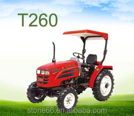 26hp mini single cylinder multipurpose tractor with front end loader and backhoe