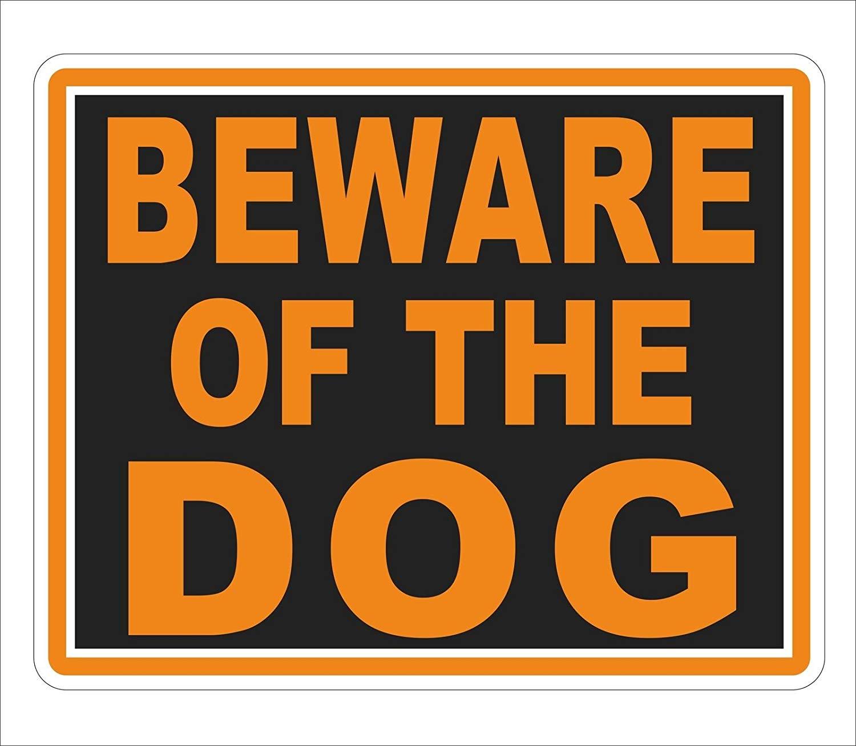 Get quotations · hjg beware of dog warning sticker caution pet vinyl car 3m graphics