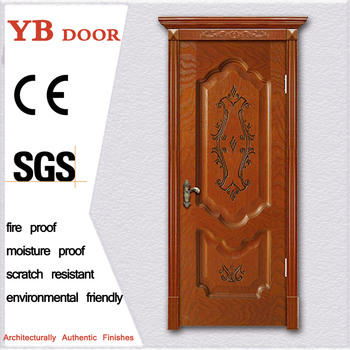Carving Fancy Interior Cheap Bedroom Wooden Single Door Design Catalogue Exterior  Door Styles YBVD 6099