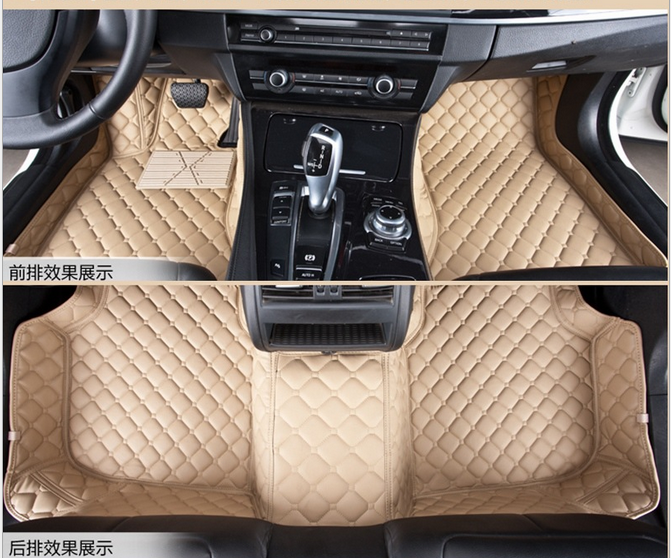 Leather car floor mat low price car mat car carpet pad for Leather flooring cost
