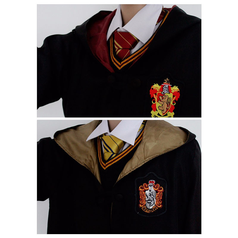 Harry Potter Magic Robe Kind Kostuums Halloween Hot Koop Kleding School Magic Kleding Cosplay Kostuums Gryffindor Robe (EXW)
