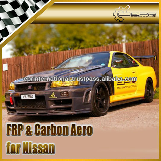 nissan skyline r34 gtr z tune en fiber de carbone frp pare chocs avant pare chocs id de. Black Bedroom Furniture Sets. Home Design Ideas
