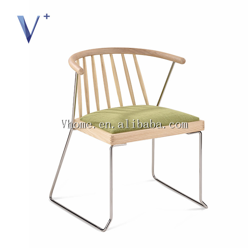 home furniture kitchen chair cafe outdoor, new design stainless steel chair fabric