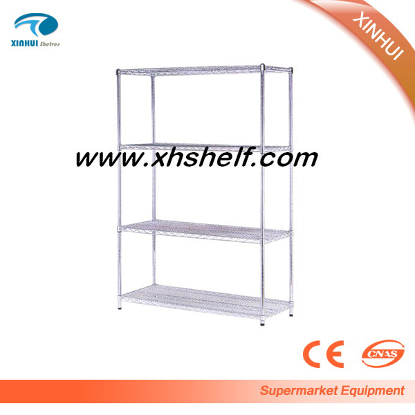 Wholesale chromed Storage Rack 4-tier Organizer Kitchen Shelving Wire Shelves